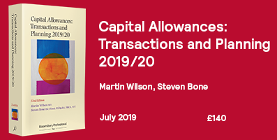 Capital Allowances 2019/20 Internal Website Banner