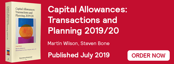 Capital Allowances 2019/20 Website Banner Order Now