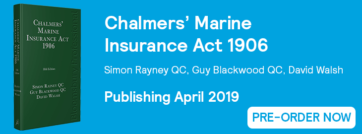 Chalmers Marine Insurance Act 1906 Pre-Order Banner