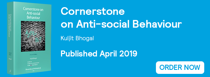 Cornerstone on Anti-social Behaviour Order Now Banner