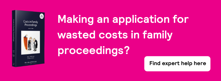 Costs in Family Proceedings - home page banner