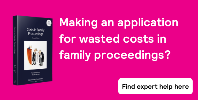 Costs in Family Proceedings - sub page banner