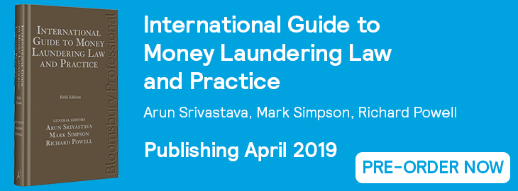 Int Guide to Money Laundering Pre-Order Website Banner