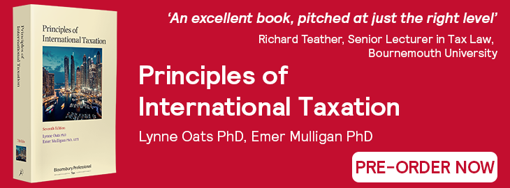 Principles of International Taxation, 7th Edition Pre-Order Website Banner