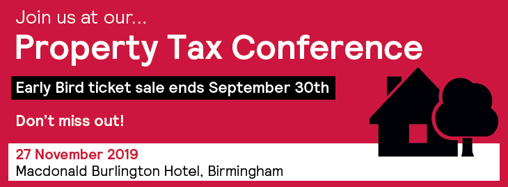 Property Tax Conference 2019 Earlybird Banner
