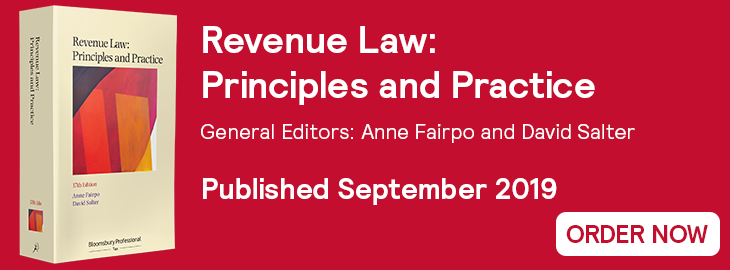 Revenue Law 37th Edition - Out Now Website Banner