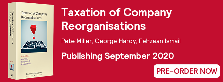 Taxation of Company Reorganisations 6th Edition Pre-Order Banner