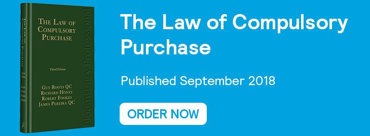 The Law of Compulsory Purchase Website Banner