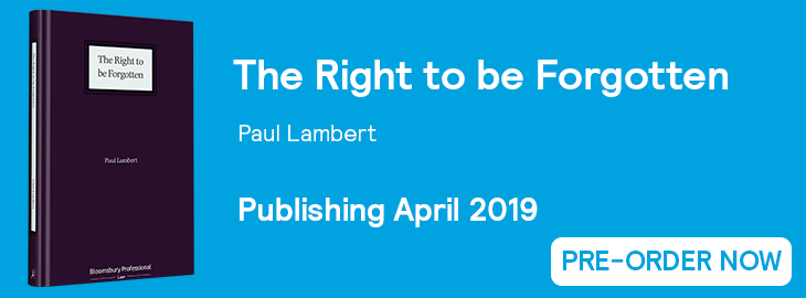 The Right to be Forgotten Website Banner - Pre-Order